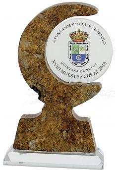 Trofeo de Piedra/cristal impresión color