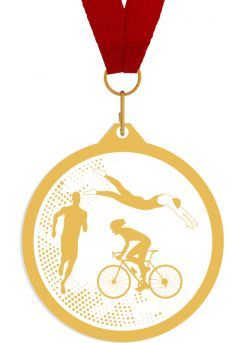 Medalla de metacrilato para triatlon Thumb