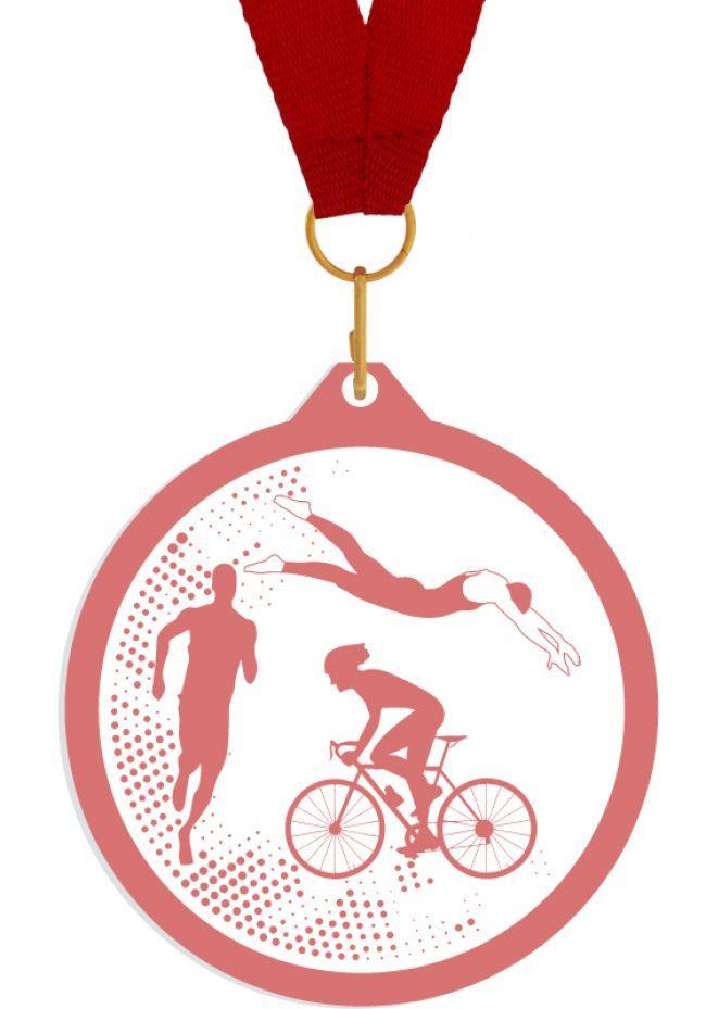 Medalla de metacrilato para triatlon