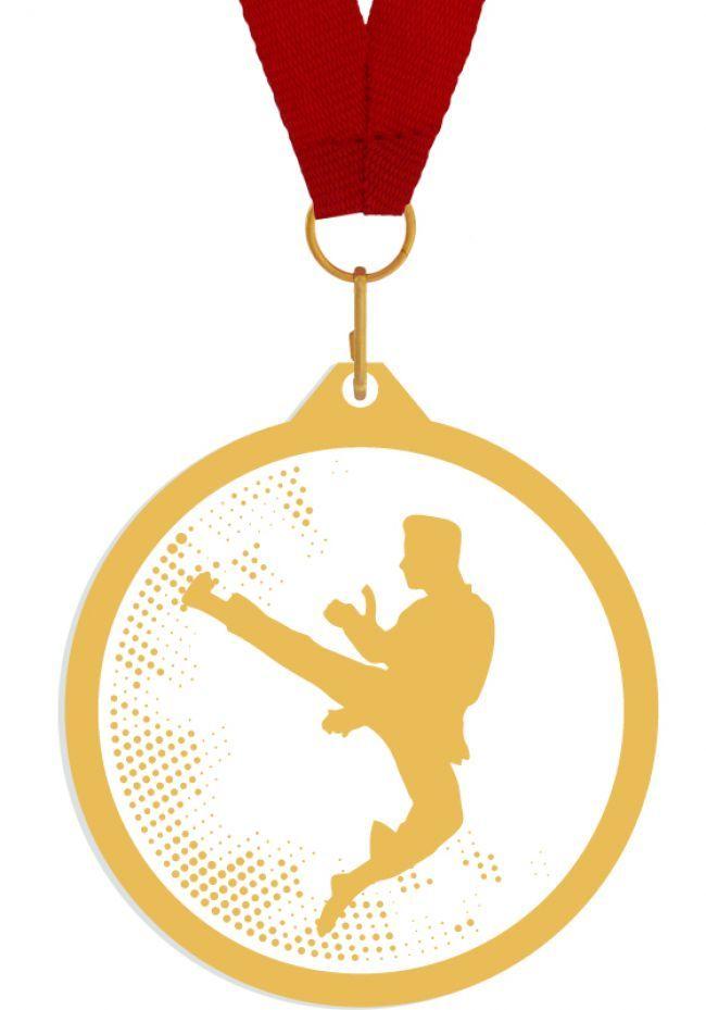 Medalla de metacrilato para artes marciales