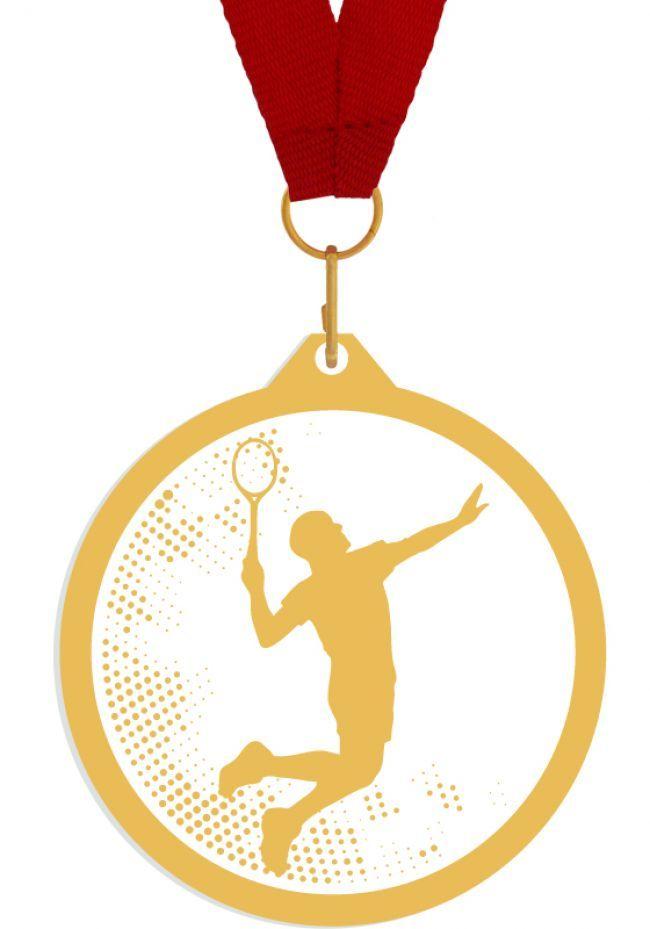 Medalla de metacrilato para badminton