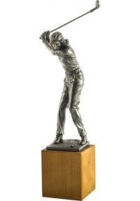 Trofeo de una jugadora golf-1