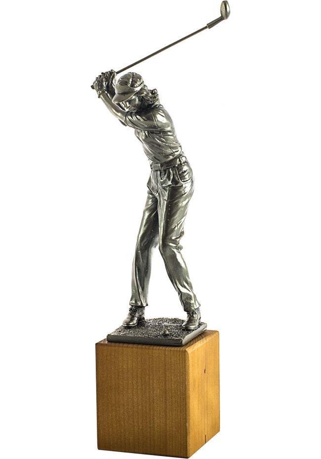 Trofeo de una jugadora golf