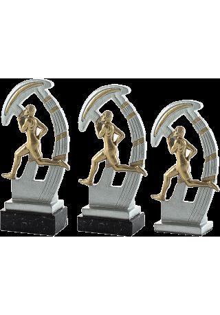 Trofeo de resina deportivo de cross