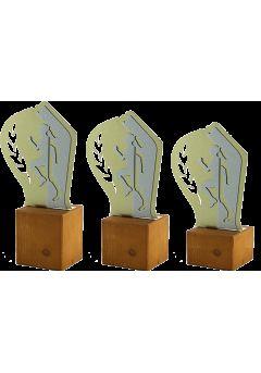 Trofeo de Cross en Metal/Madera Mujer