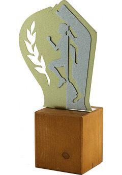 Trofeo de Cross en Metal/Madera Mujer-1