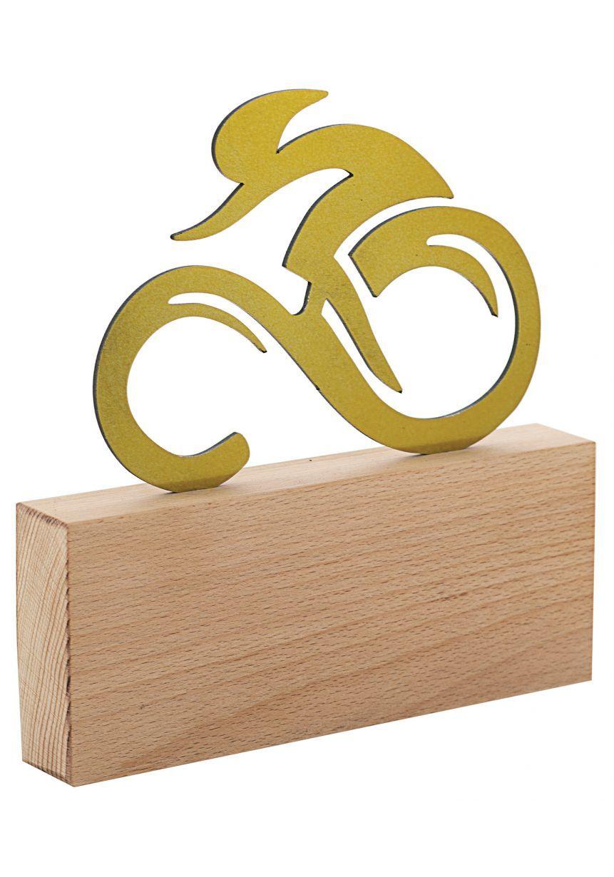 Trofeo de ciclismo en Metal/Madera