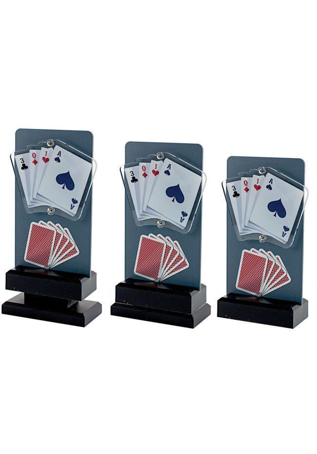 Trofeo de Cartas Póquer con detalle