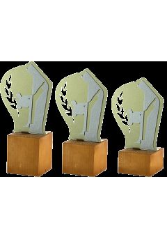 Trofeo de Karate en metal/madera