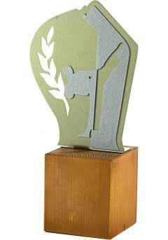 Trofeo de Karate en metal/madera  Thumb