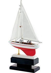 Trofeo resina barca roja