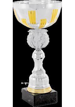 trofeo copa abstracta plata naranja portadiscos 9