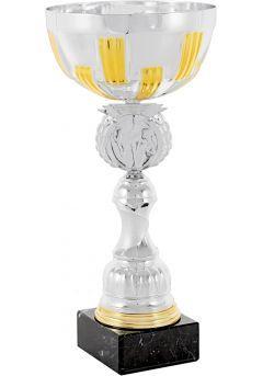 Trofeo copa abstracta plata-oro portadiscos