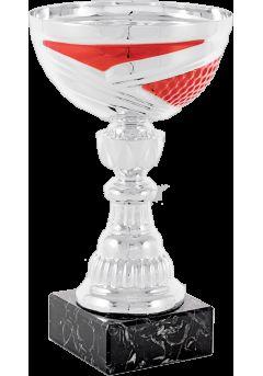trofeo copa abstracta plata roja portadiscos 9