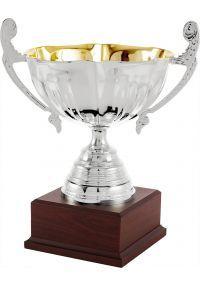 Trofeo copa bicolor ensaladera plata asas