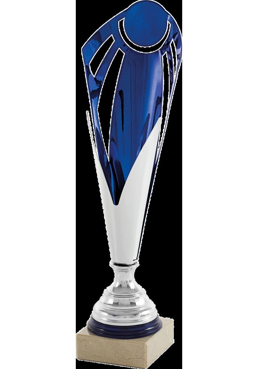 Copa Cono Disco Personalizado Azul
