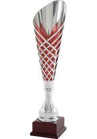 Trofeo copa corte geométrico rojo