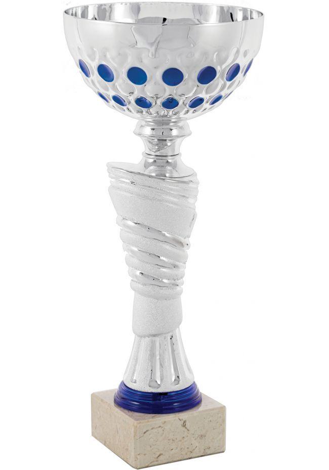 Copa Balón Entramado Azul Esférico