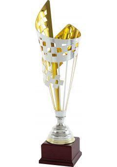Trofeo copa cono geométrico cuadrado bicolor Thumb