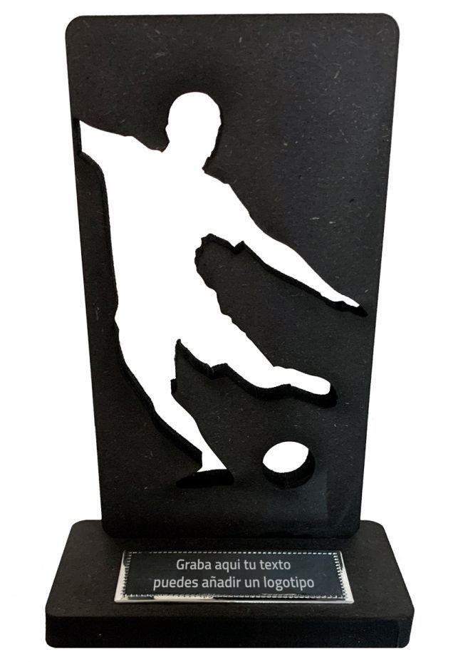 Trofeo de Futbol en madera negra