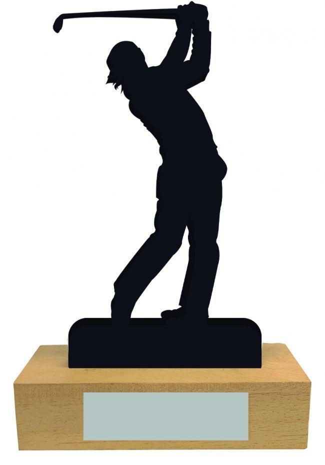 Trofeo Golf de Madera con silueta
