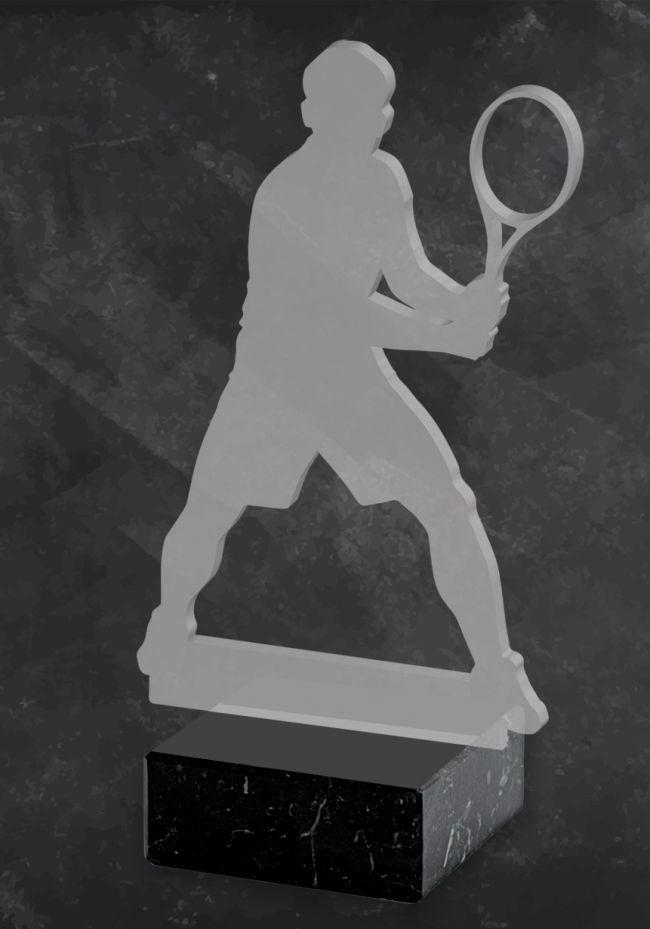 Trofeo de Tenis silueta de metacrilato