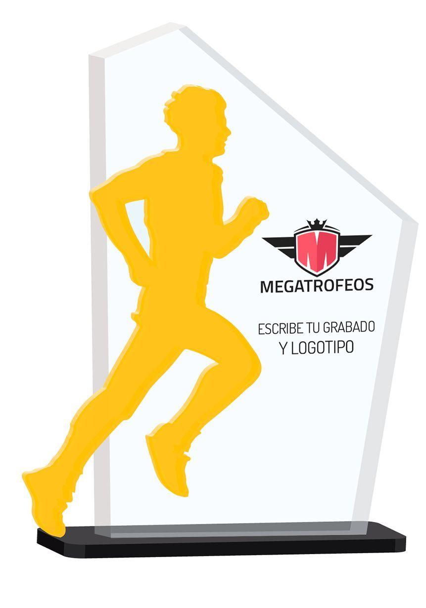 Trofeo de metacrilato con silueta deportiva