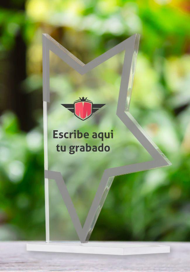 Trofeo de estrella en metacrilato
