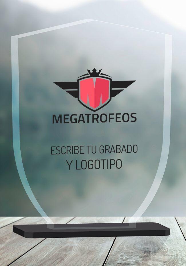 Trofeo corte en metacrilato escudo