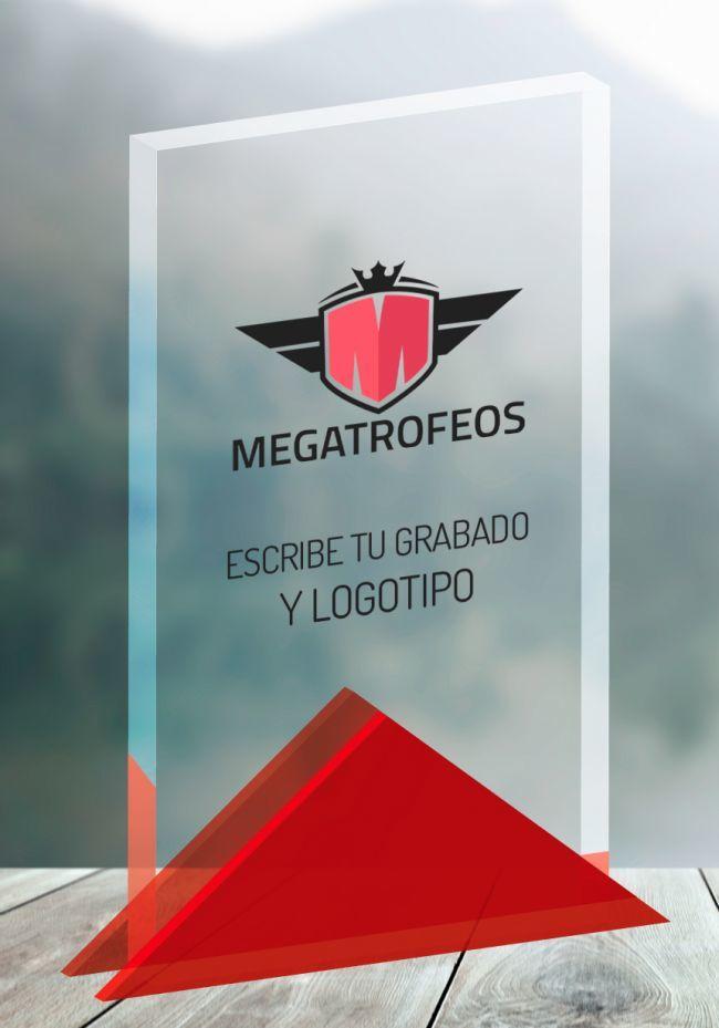 Trofeo metacrilato base triangular
