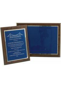 Placa de homenaje plata/azul