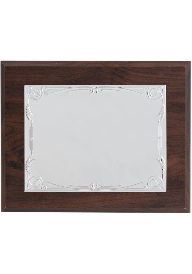 Placa de homenaje rectangular aluminio
