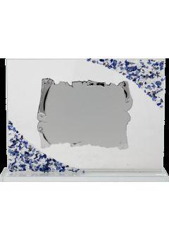 placa de homenaje detalle azul 1