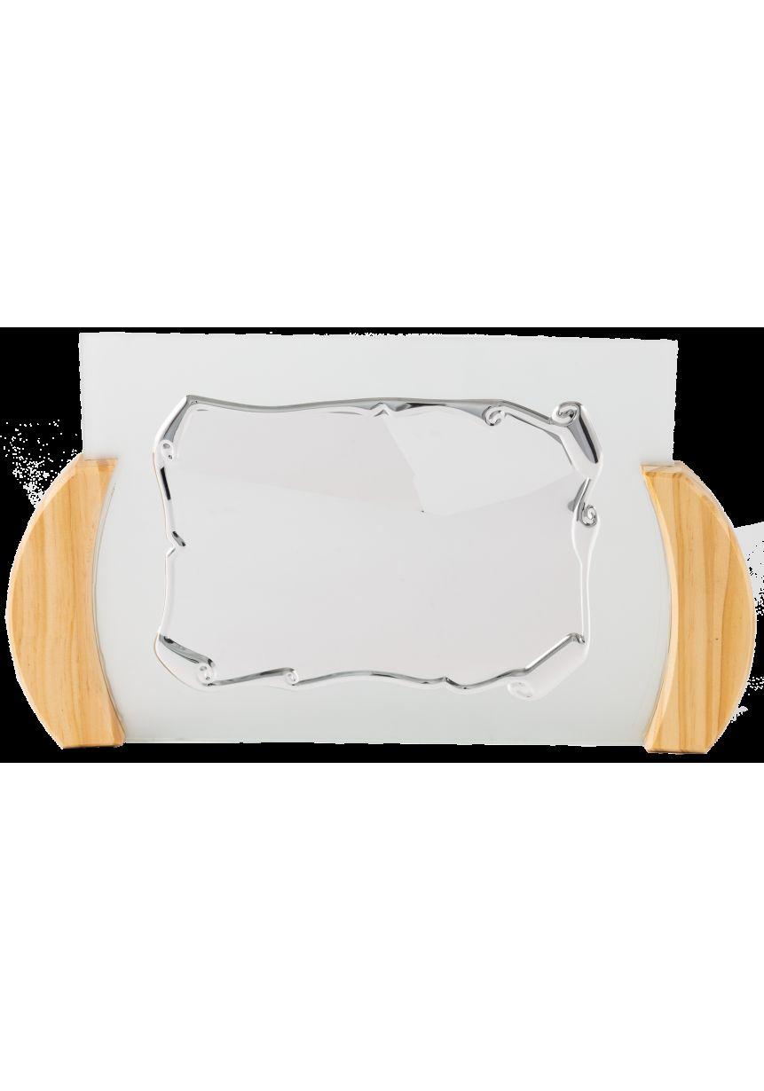 Placa de homenaje cristal soporte madera