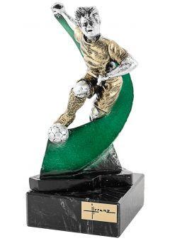 Trofeo de resina futbolista onda Thumb