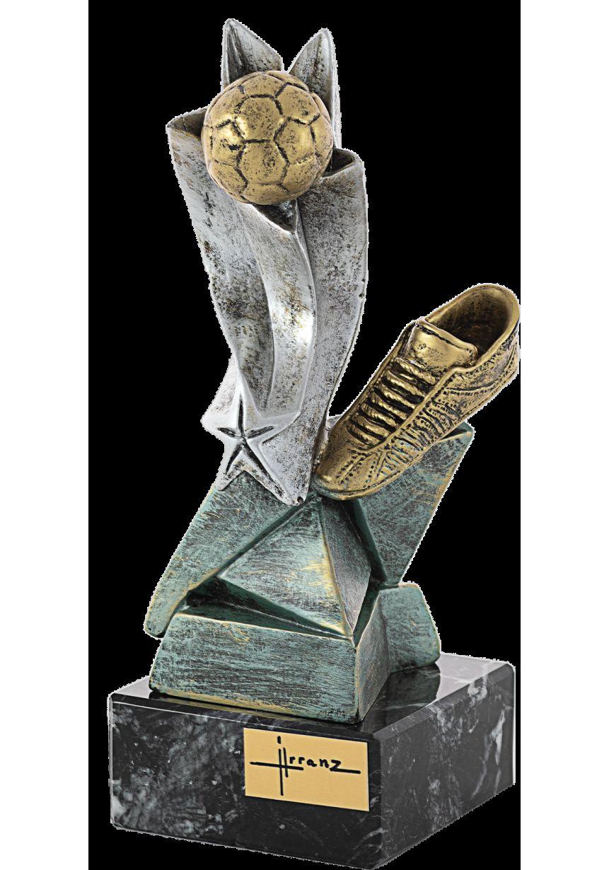 Trofeo bota y balón resina