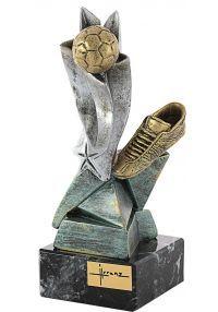 Trofeo bota y balón resina-1