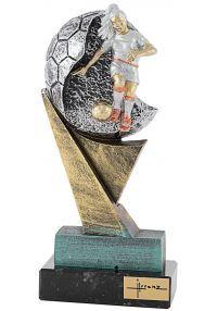 Trofeo de resina balón futbolista Femenino
