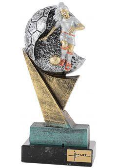 Trofeo de resina balón futbolista Femenino  Thumb