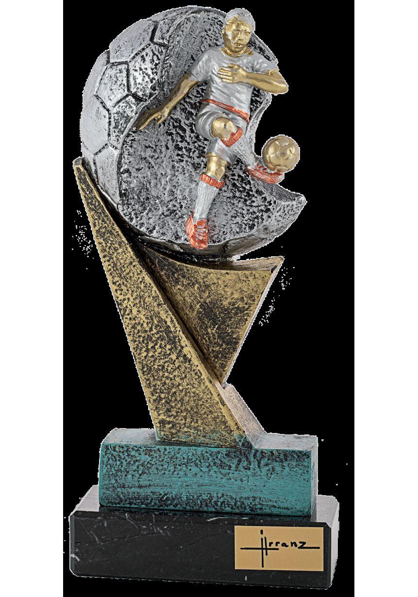Trofeo de resina balón Futbolista