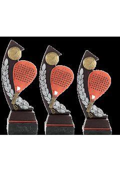 Trofeo pádel doble raqueta laurel