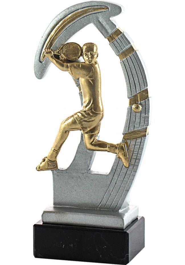 Trofeo de resina deportivo de tenis