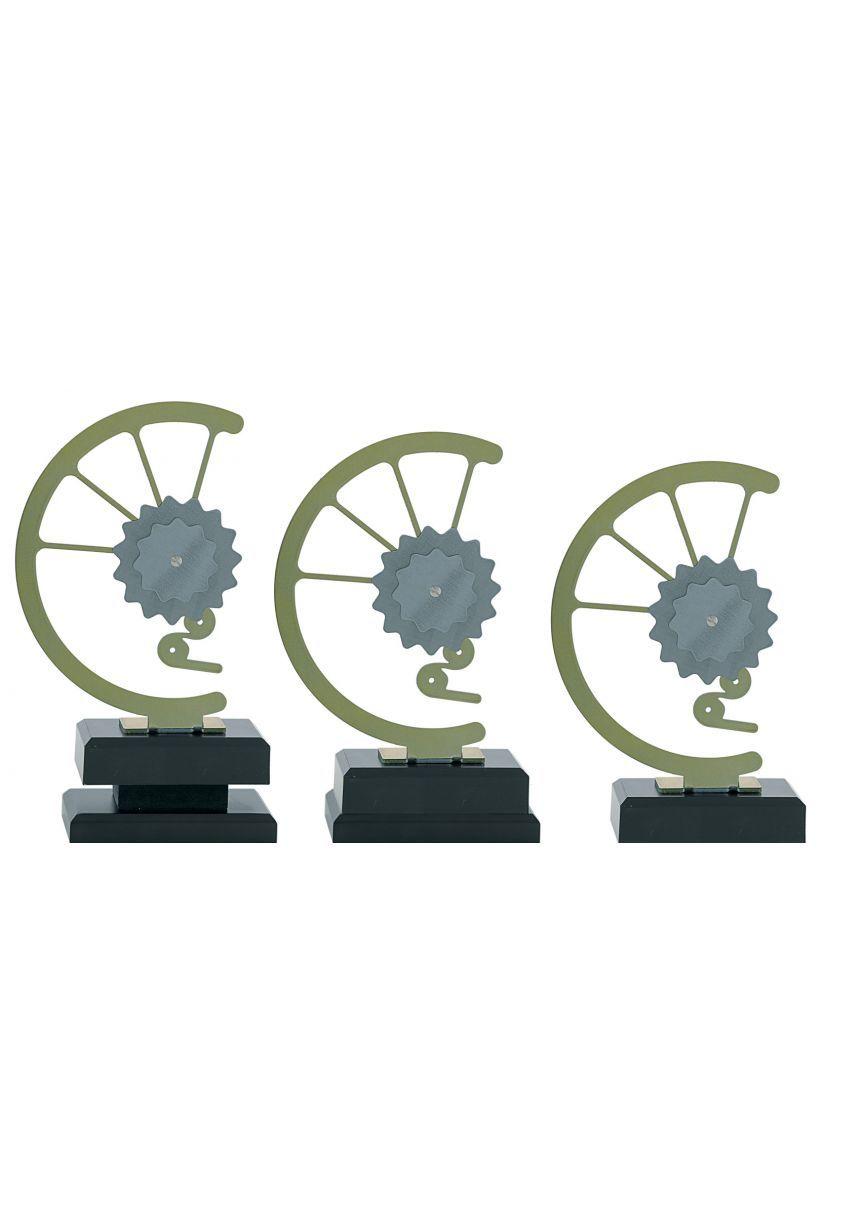 Trofeo con engranaje de bicicleta