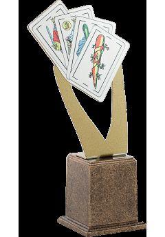 trofeo metal cartas dorado 1