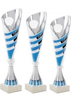 Trofeo copa cónica plata onda Thumb