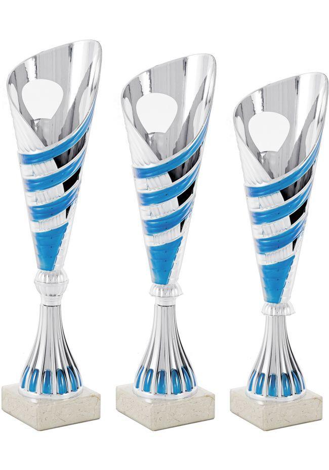 Trofeo copa cónica plata onda
