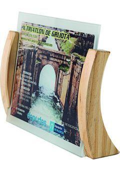 Trofeo de cristal forma rectangular impreso color soporte madera  Thumb