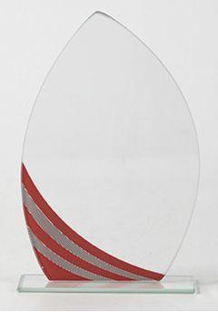 Trofeo de cristal Lágrima Rojo