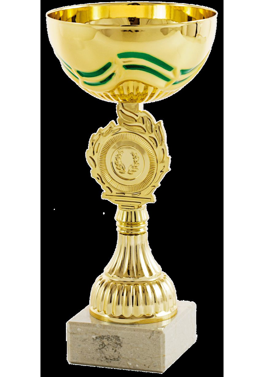Trofeo competición portadisco dorado