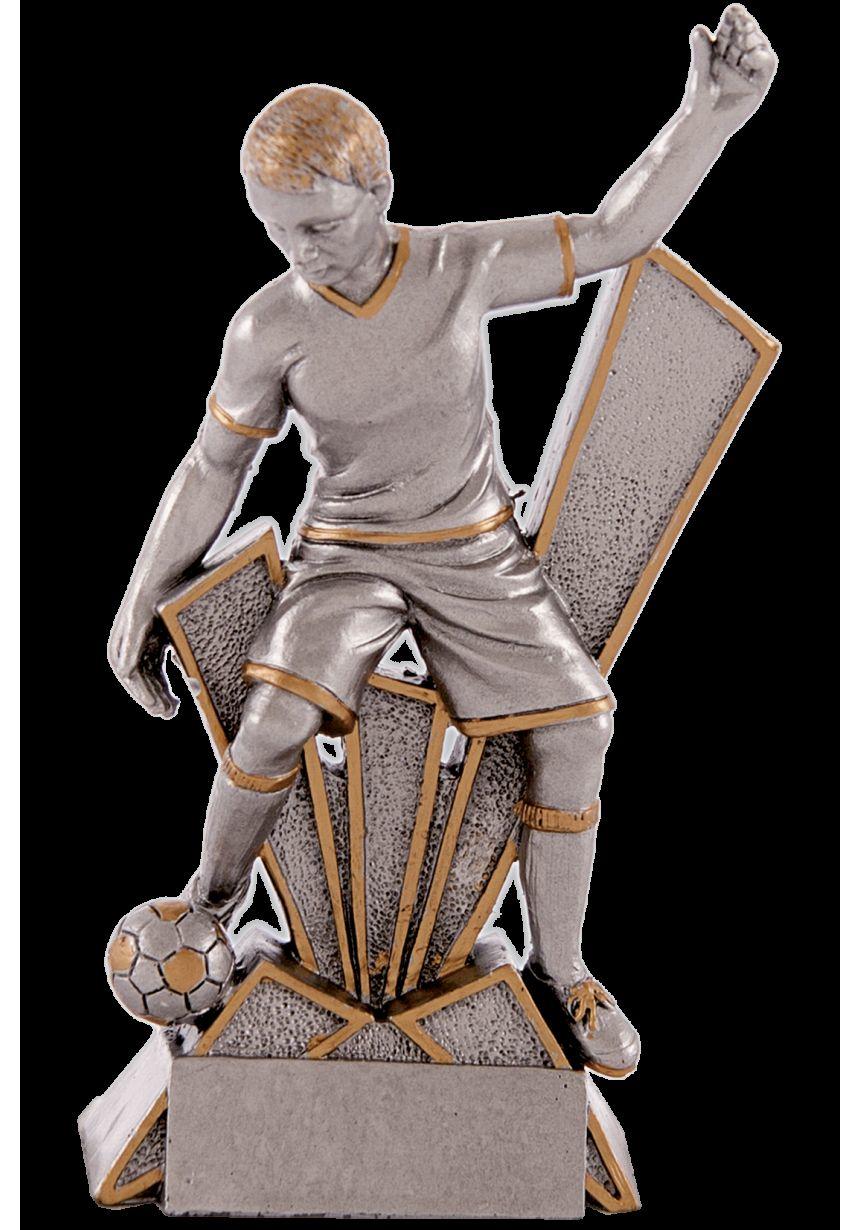 Trofeo soporte y figura de jugador fútbol